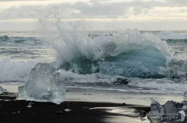 Dawn at the Black Sand Beaches by Jökulsárlón