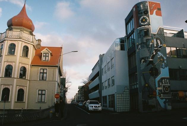 Juxtaposition in Reykjavik, Iceland