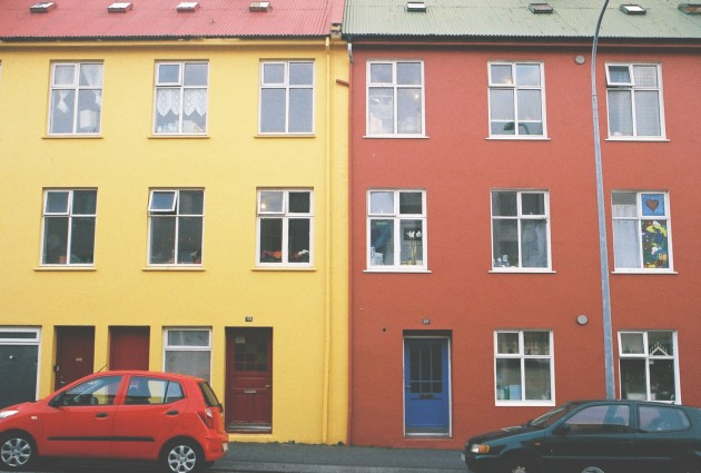 Colorblocking. Reykjavik, Iceland