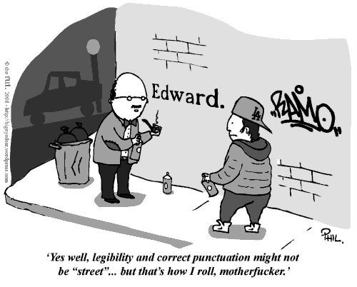 Legibility and correct punctuation