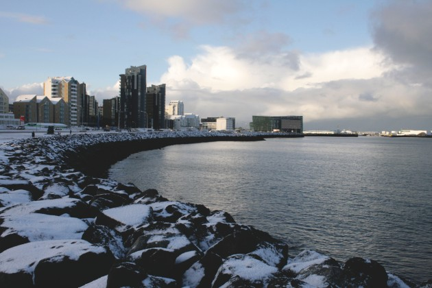 Reykjavik, Iceland in the snow