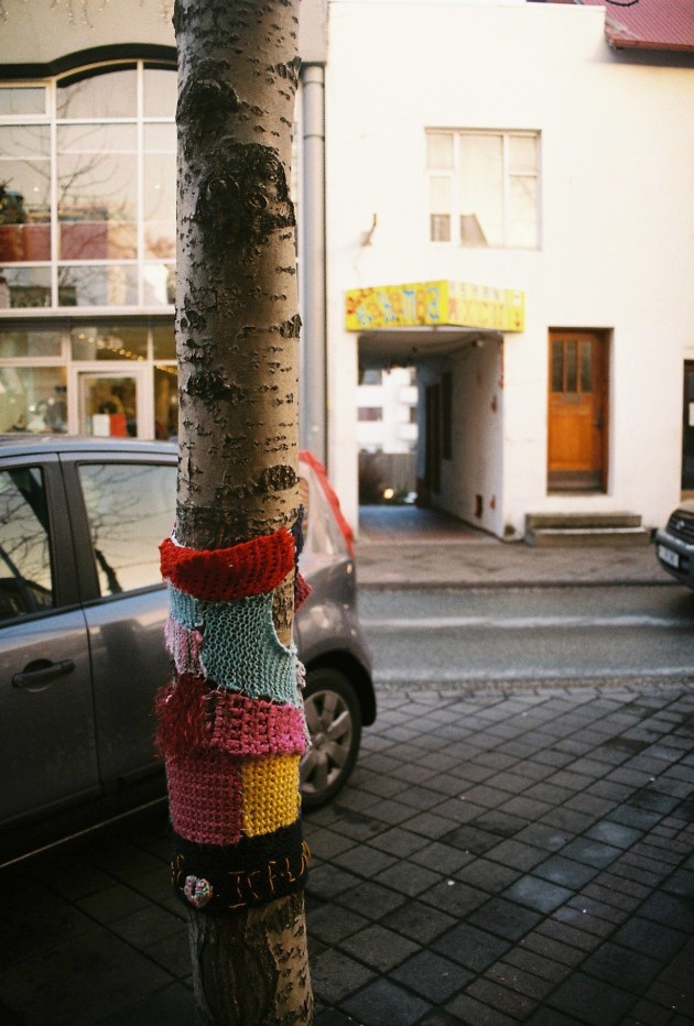 Yarn Bombing in Reykjavik, Iceland