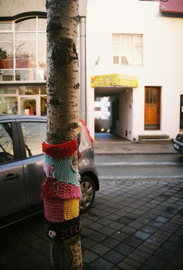 Yarn Bombing in Reykjavik, Iceland