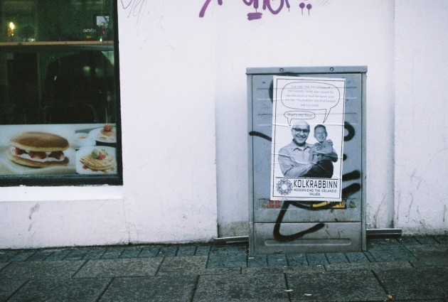 Anti-Capitalist Street Art in Reykjavik, Iceland