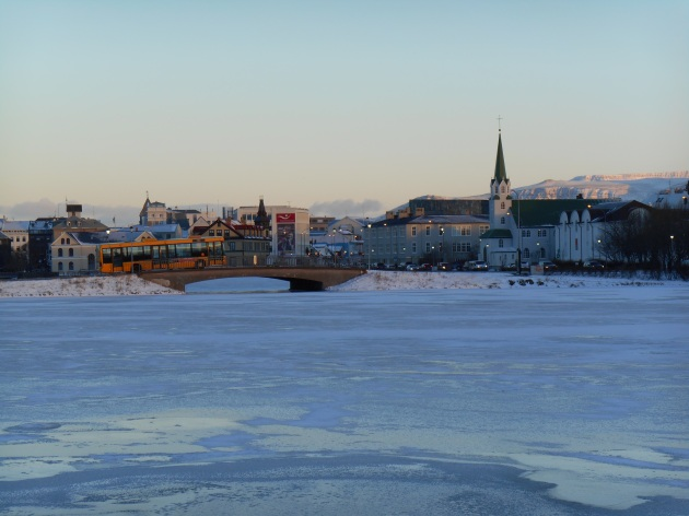 Reykjavik on a cold winter day