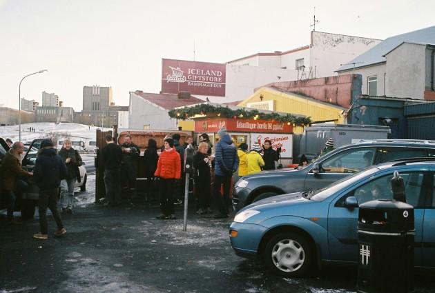 Hot Dog (Pylsur) Stand in Reykjavik, Iceland