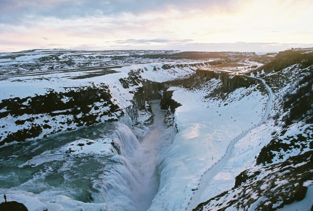 Gullfoss, Iceland in the Winter