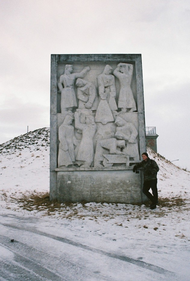 Huge sculpture in Reykjavik, Iceland