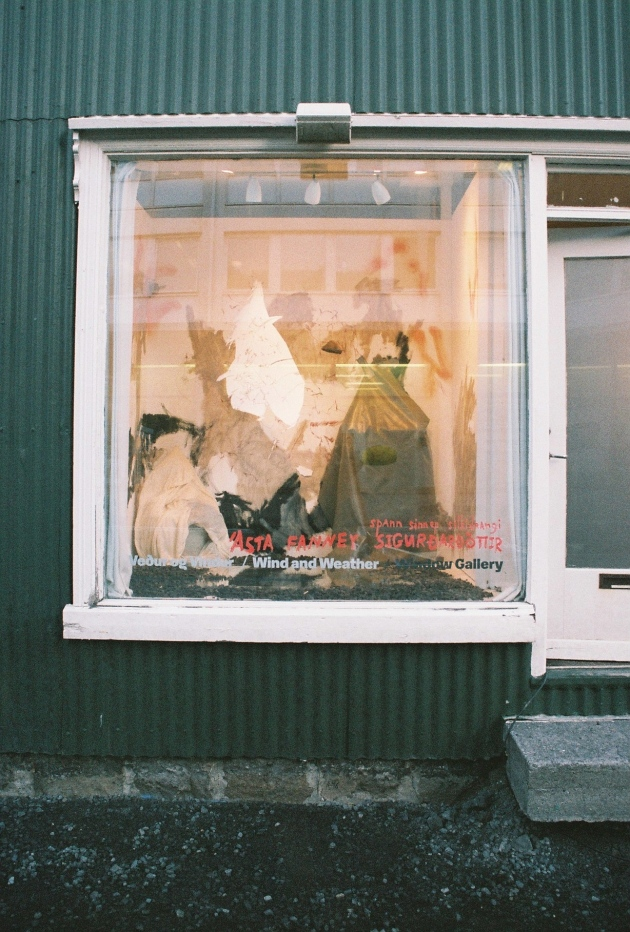 A tiny window art gallery in Reykjavik, Iceland