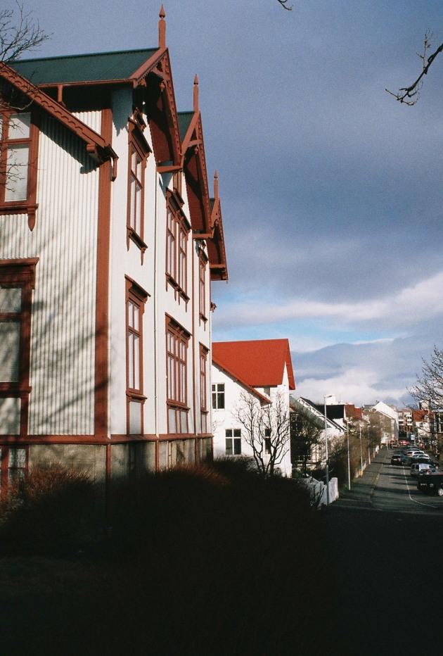 House on Tjarnargata in Reykjavik, Iceland