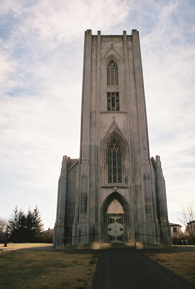 Landakotskirkja in Reykjavik, Iceland