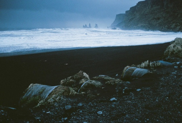 The black sand beach at Vík, Iceland
