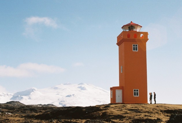 Svörtuloft Lighthouse on the Snaefellsnes Peninsula, Iceland