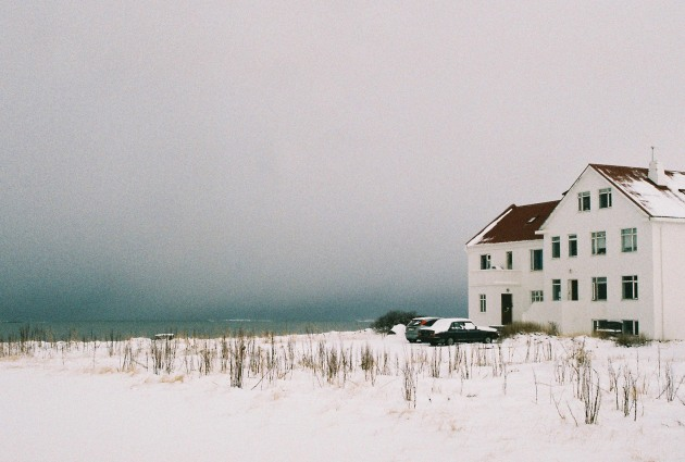 A house by the sea in Reykjavik, Iceland