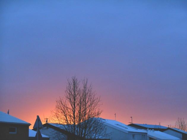 Sunset in Kópavogur, Iceland