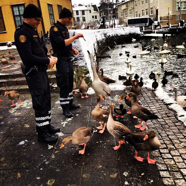 From the Reykjavik Police Instagram