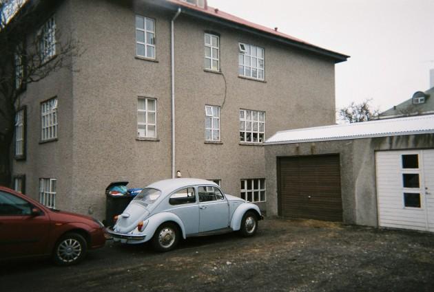 Vintage car in Reykjavik, Iceland