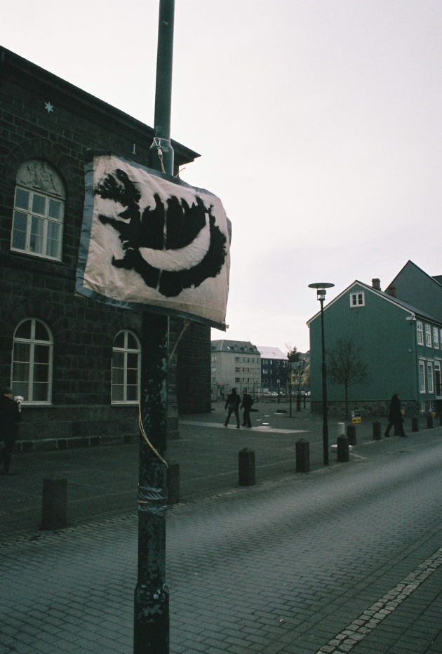 Protests in Reykjavik, Iceland