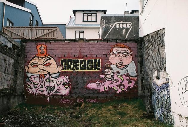 Street Art in Reykjavik, Iceland